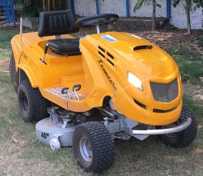 commercial heavy gauge chassis of indian rideon mower