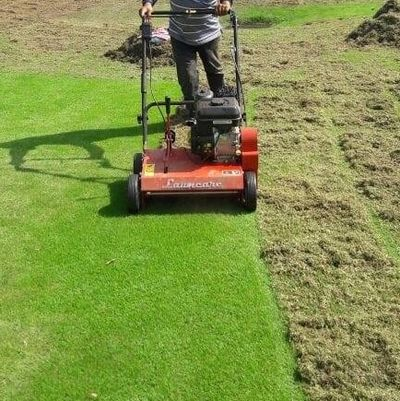 lawn scarifier/rake for golf and cricket ground