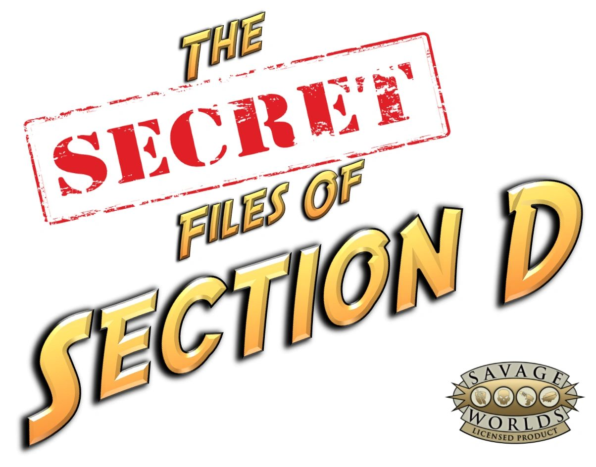 Logo for The Secret Files of Section D from Imaginarium Games