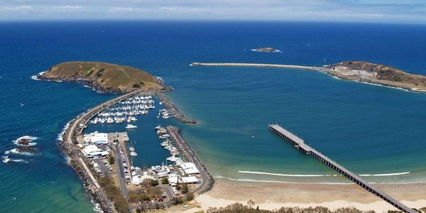 Precision Helicopters Coffs Harbour Marina Jetty Scenic Helicopter Flight NSW