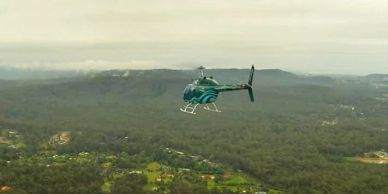 Helicopter flight over the Coffs Coast Hinterland