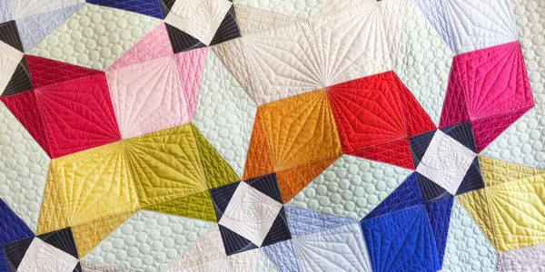 Grounded quilt geometric depth modern quilt and quilting