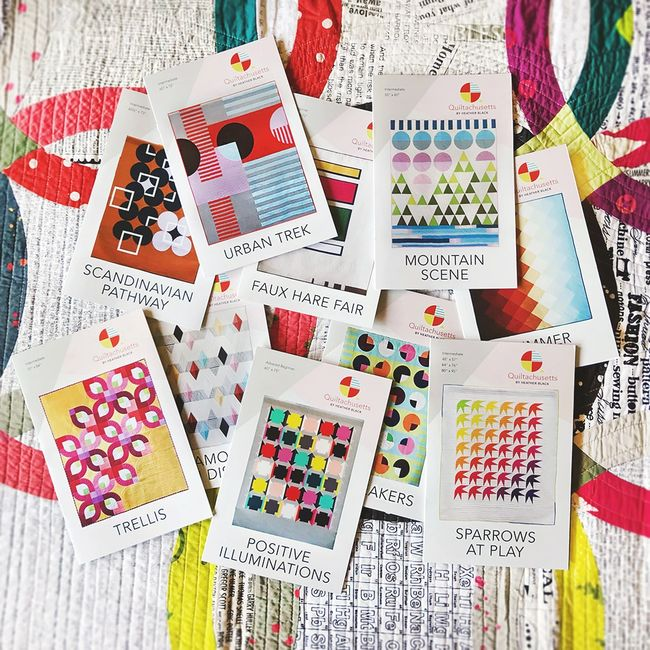Modern and contemporary quilt patterns by Heather black quiltachusetts