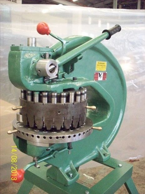 "New Rotex style turret punch No.18 Specifications Capacity: 8 Tons Throat Depth: 18"" Stations 18"