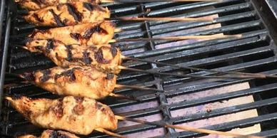 Jerk style chicken skewers
