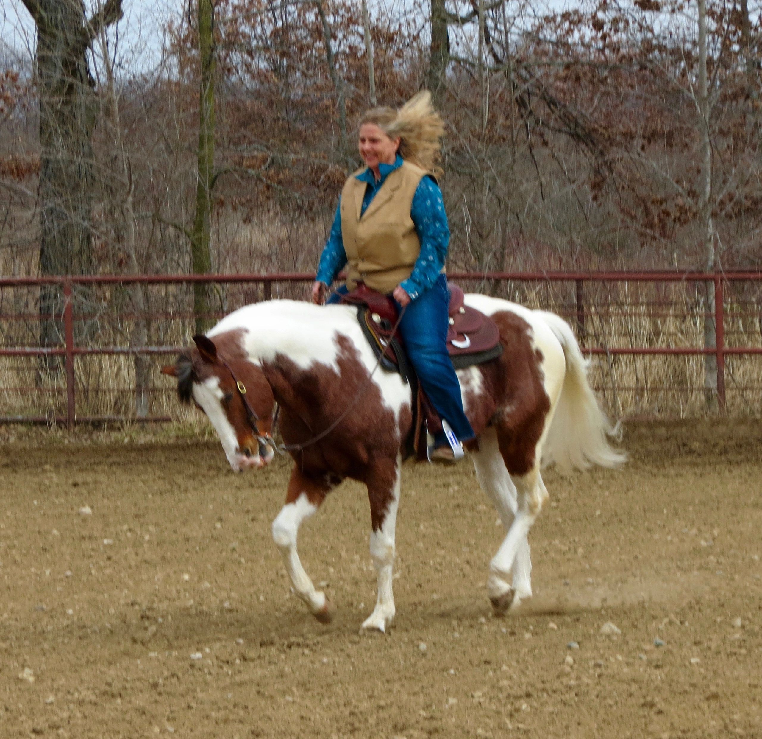 Robin is a fun loving energetic no nonsense trainer that matches the horse with the human
