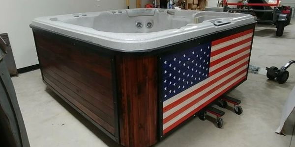 custom hot tub refurbished hot tub