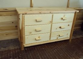 Log Cedar Dresser Chest of Drawers Bedroom Rustic Furniture