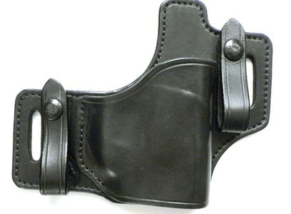 Hybrid conceal carry premium inside or outside the waistband leather holster.