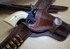 Custom Western Rig with border tooling and standing liberty concho. Color: Chocolate