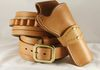 Custom Western Rig with brass studded strap. Color: Natural