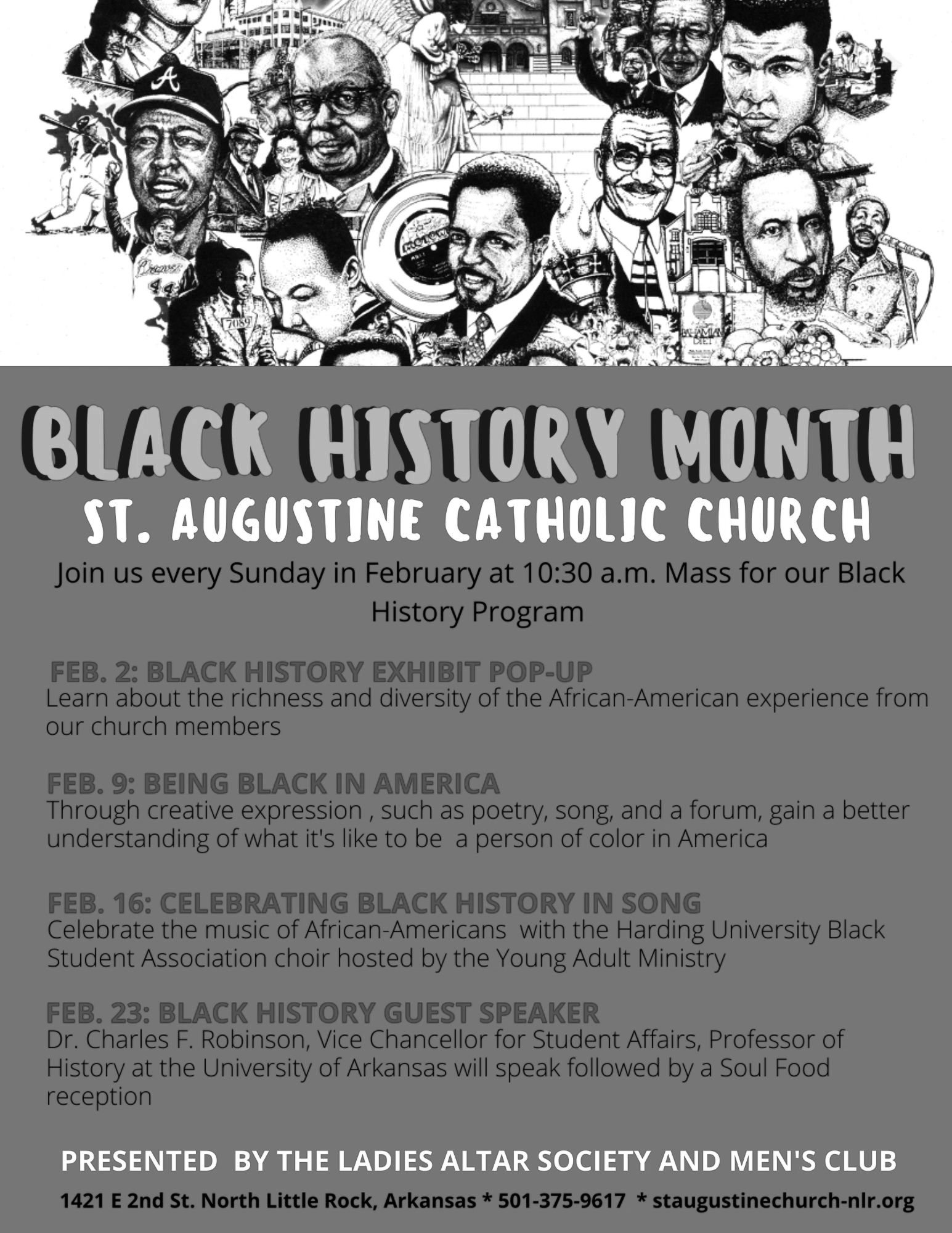 Black History Month Celebration at St. Augustine's Church in North Little Rock.