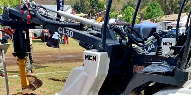 mcm usa, compact articulated wheel loader, articulated, loader attachments, loader auger, CL30, mcm