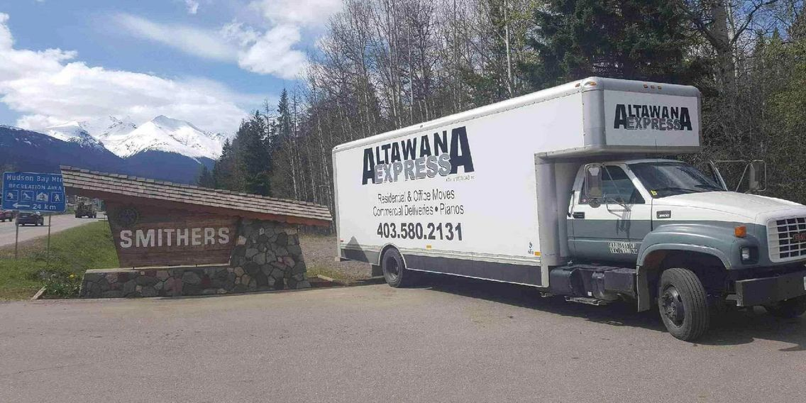 Truck used by our moving companies in Lethbridge