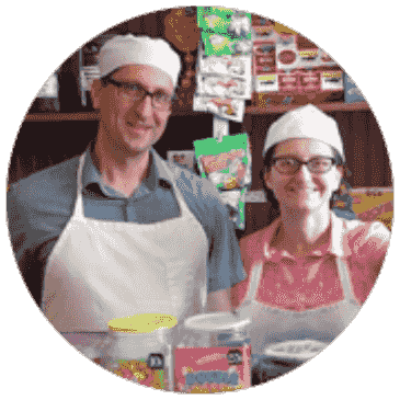 Robert Schultz and Valerie Schultz, Proprietors of Ballyhoo Ice Cream and Candy in West Pittston, PA
