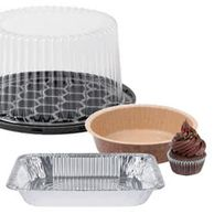 Foil Pan, cake display container, cupcake wrapper, eco-friendly paper bakeware / cookware