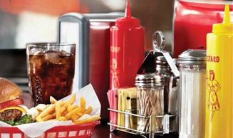 tabletop Acessories squeeze bottle, sugar holder, salt & pepper shaker, napkin dispenser