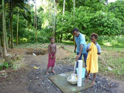 Clean drinking water from Walindi's spring, tour fees to the village help to maintain this.