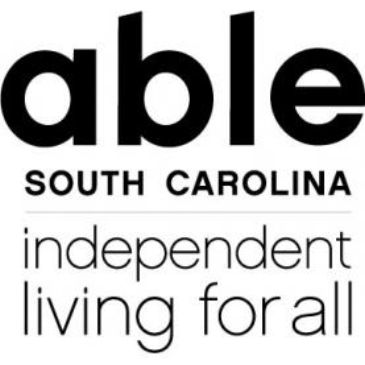 able sc logo. white background with ABLE SC written in black