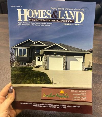 Homes and Land Saskatoon - Cover March 2019 Edition - Sunshine Meadows Dundurn