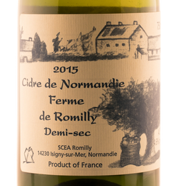 normandy cider, romilly cider, romilly cidre , demi-sec cider