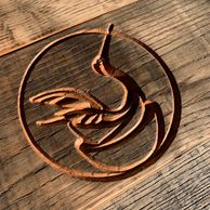Custom signs, nameplates, custom logos on vintage hardwood or shou sugi ban styles