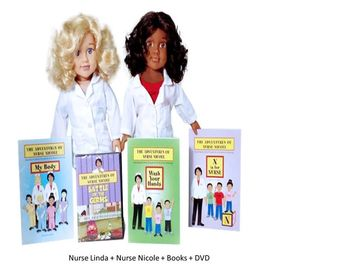 Nurse Nicole & Nurse Linda - 18 inch Dolls Is Nursing STEM? & STEM Careers from A -Z - (available)
