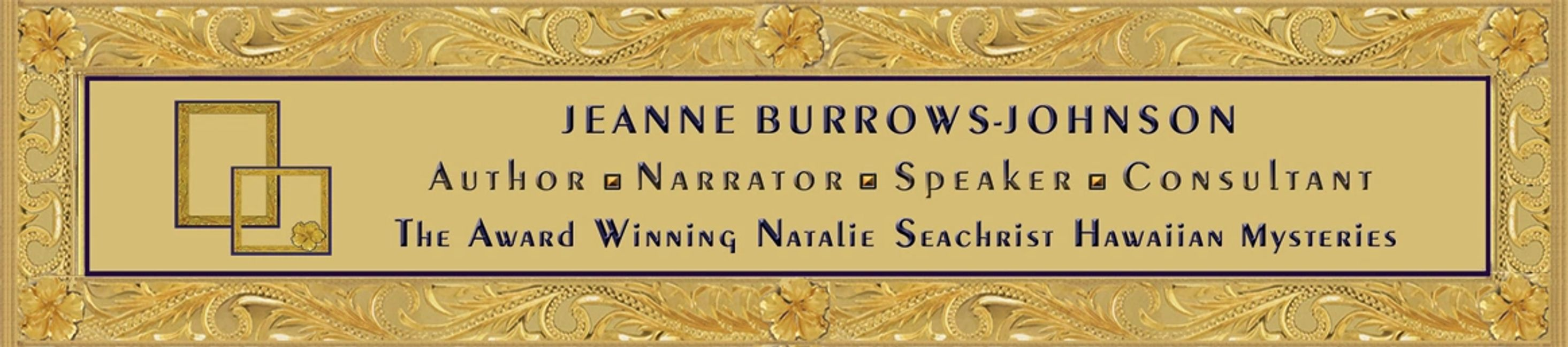 Hawaiian heirloom gold jewelry banner for Jeanne Burrows-Johnson, author Natalie Seachrist Mysteries