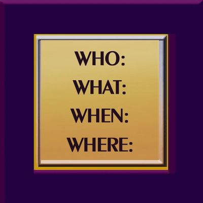A promotional icon of Who, What, When, Where