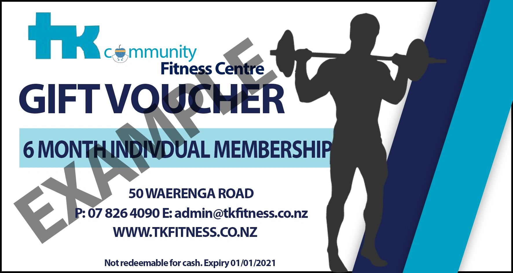 gym membership voucher gift