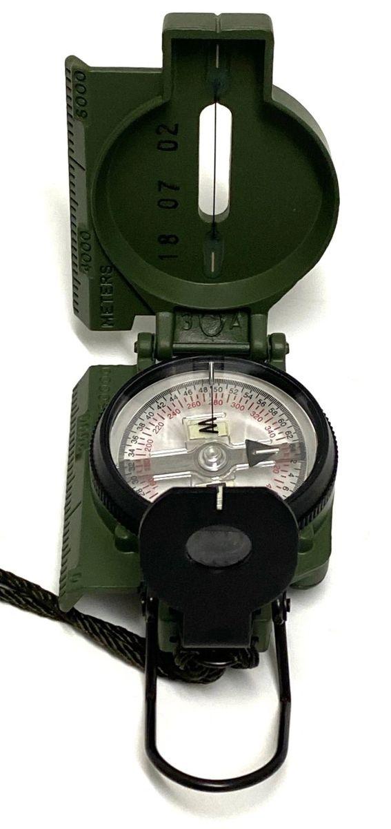 Military Tritium Lensatic Boussole modèle 3 H Cammenga OD U S Army Issue