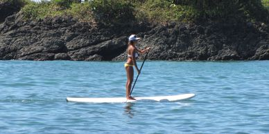 Drake Bay Stand up paddle boarding right from our private beach.