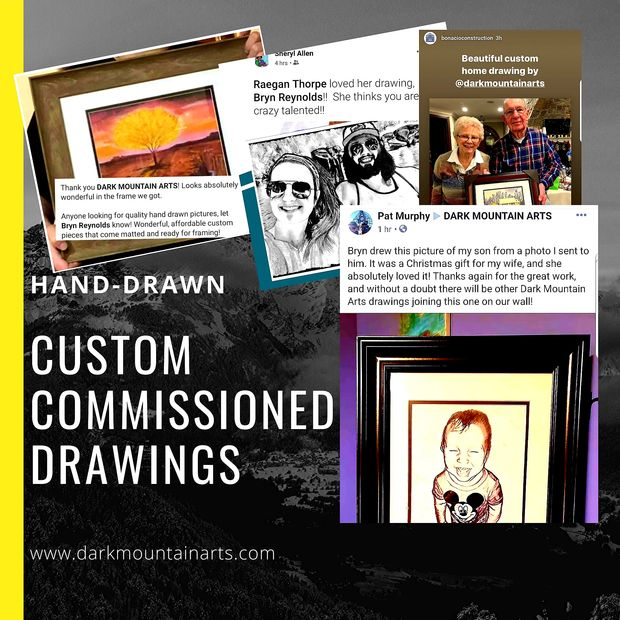 Custom Drawings, portraits, house drawings,  Commissioned drawings, landscapes, custom art,