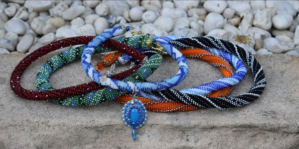 Agate seed bead rope jewellery jewelry pearls wire with different colours