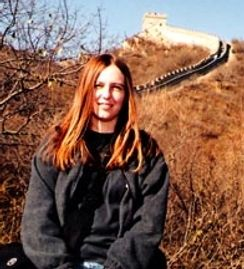 Frieda Woods at the Great Wall of China in Beijing