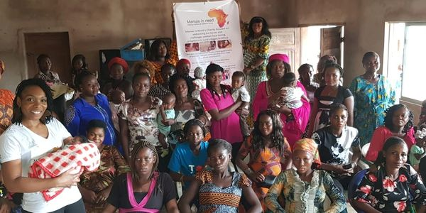 Pregnant mothers and their babies in Abiriba a rural village in Abia State Nigeria.