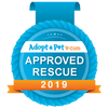 Adopt a pet approved rescue badge