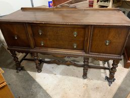 Beautiful large buffet that would be perfect in a dining room, under a tv, statement piece in foyer