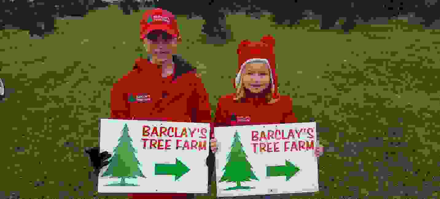 Directions to Barclay's Tree Farm