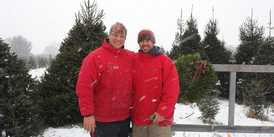Chris Barclay and Steve Barclay - Owners Barclay's Tree Farm Choose and Cut Christmas Trees Cranbury