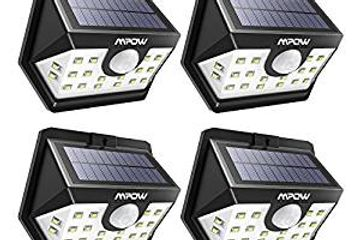 Mpow Solar Lights,20 LED Solar Powered Security Lights with Motion Sensor Wide Angle Lighting,Solar