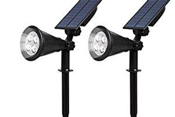 T-SUN (2 PACK) LED SOLAR SPOTLIGHT, WATERPROOF