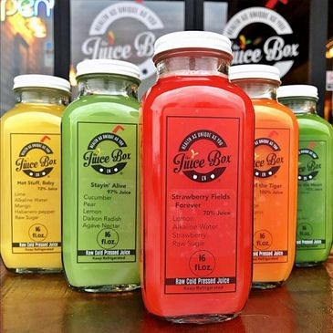 Raw, organic, cold pressed juice from our juice bar