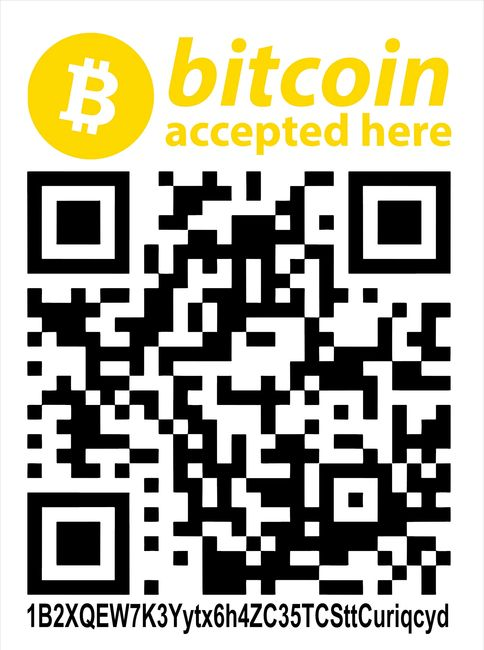 bitcoin bitcoin accepted here we accept bitcoin