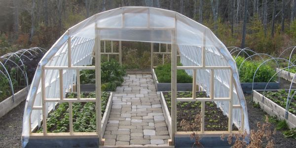Hoop house to be built for our garden.