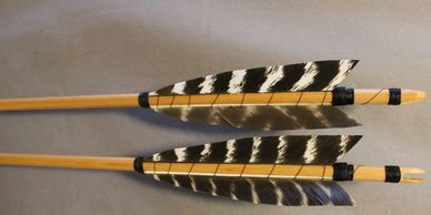 Traditional Wood Self Nock Arrows