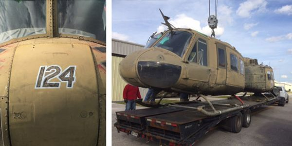 Donated helicopters await transport