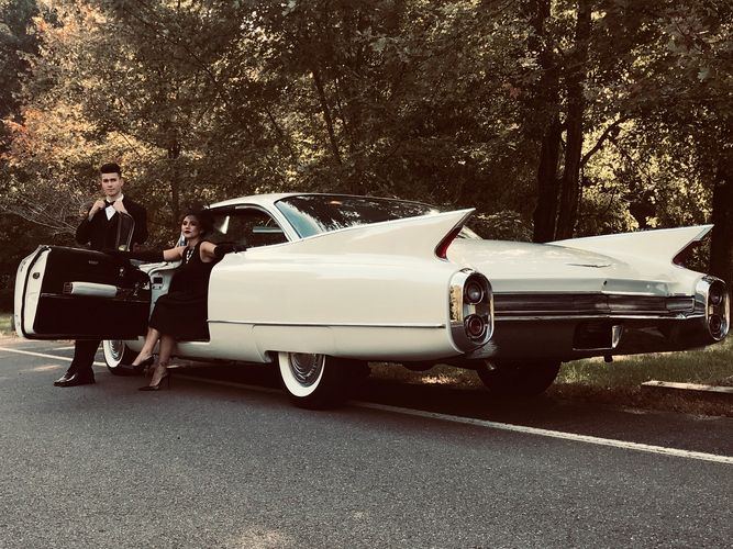 1960 Cadillac classic style vintage wedding formal classy elegant 1950s  1960s