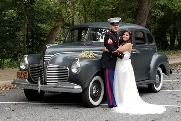1941 Plymouth WWII Art Deco Great Gatsby 1940s big band swing Deluxe wedding car classic vintage
