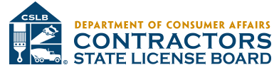 CA Department of Consumer Affairs - Contractors State License Board